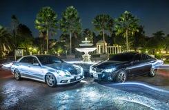 BMW et benz photo libre de droits