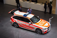BMW F31游览作为一辆紧急车的3系列 免版税图库摄影
