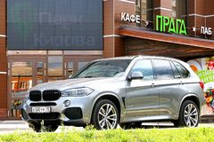 BMW F85 X5 M. IZHEVSK, RUSSIA - AUGUST 27, 2017: Motor car BMW F85 X5 M in the city street royalty free stock photography