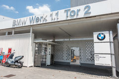 BMW factory entrance Stock Images