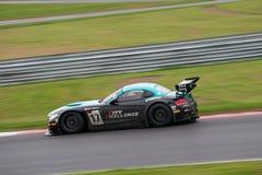 BMW FIA GT på racen Arkivbild