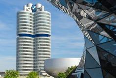 BMW four-cylinder tower Munich world headquarters Stock Photos