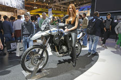 BMW G 650 GS in EICMA 2011 Royalty Free Stock Photography