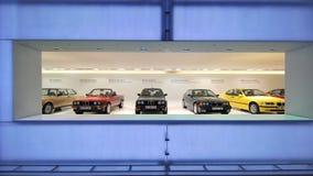 BMW galleri för 3 serie i BMW museet Royaltyfria Bilder