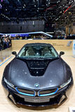 BMW at the 2014 Geneva Motorshow. The new BMW i8 at the 2014 Geneva Motorshow Royalty Free Stock Photography