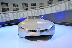 BMW GINA Light Visionary tela-peló el coche del concepto en la exhibición en el museo de BMW Fotos de archivo libres de regalías