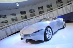 BMW GINA Light Visionary tela-peló el coche del concepto en la exhibición en el museo de BMW Fotos de archivo
