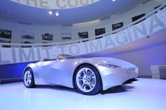 BMW GINA Light Visionary tela-peló el coche del concepto en la exhibición en el museo de BMW Imagen de archivo libre de regalías