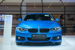 BMW 4 Grand Coupe at the Singapore Motorshow 2015 Royalty Free Stock Photos