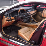 BMW Grand Lusso Coupe 2013 dashboard Stock Image