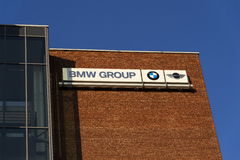 BMW group company logo on Czech headquarters building Stock Images