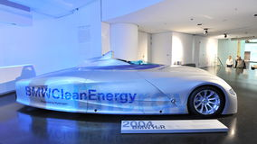 BMW H2R hydrogen powered racing car on display in BMW Museum Royalty Free Stock Photo