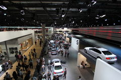 Bmw hall on 64rd IAA Stock Images