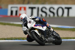 bmw-haslamleon wsbk 2012 Royaltyfria Foton