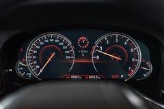 BMW hastighetsmätare för 7 serie Arkivbild