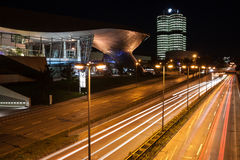 BMW Headquarter and museum in Monaco at night Stock Images