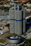 BMW Headquarters. The administration tower of the Munich BMW headquarters is shaped like four cylinders Royalty Free Stock Photography