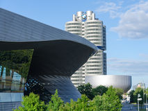 BMW Headquarters modern building four-cylinder tower Stock Image