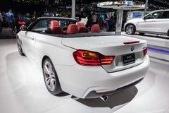 BMW 420i敞篷车背面图在显示的 免版税图库摄影