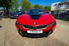 BMW i8 автомобиля спорт plug-in гибридный стоковые фото