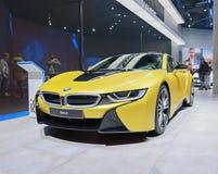 BMW i8 -在IAA的插入式杂种电车2017年 免版税图库摄影