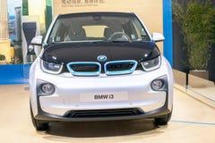 BMW i3汽车的前面 免版税图库摄影