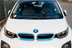 BMW i1电车视图 免版税图库摄影