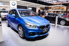 BMW 218i Active Tourer on display Royalty Free Stock Photos