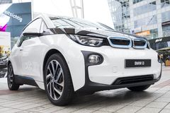 BMW i3 all-elkraft bil Royaltyfri Foto