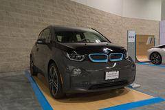 BMW i3 Base w/Range Extender on display. Stock Photos