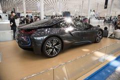 BMW i8 bil royaltyfri bild
