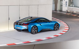 BMW i8 at BMW museum Royalty Free Stock Photo