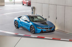 BMW i8 at BMW museum Stock Photo