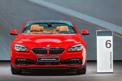 BMW 650i cabrioletDetroit auto show 2015 Royaltyfria Foton