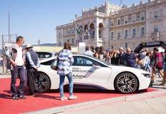 BMW i8, coche eléctrico Imagen de archivo