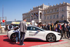 BMW i8, coche eléctrico Imagenes de archivo