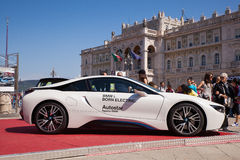 BMW i8, coche eléctrico Imagen de archivo libre de regalías