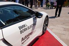 BMW i8, coche eléctrico Foto de archivo libre de regalías