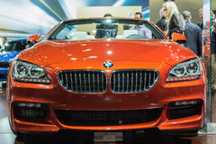 BMW 650i Convertible car on display at the LA Auto Show. 2 Royalty Free Stock Images