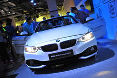 BMW 428i convertible on display at BMW World 2014 Stock Image