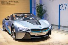BMW i8 den hybrid- bilen Arkivfoton