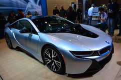 BMW I8 on dispay at the Chicgago Auto Show Royalty Free Stock Images