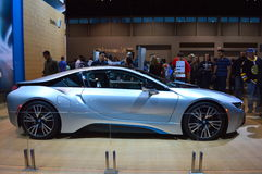The 2014 BMW i8 on dispay at the Chicgago Auto Show Stock Images