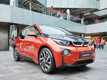 BMW i3 displayed in a commercial area, Beijing, China Royalty Free Stock Photo