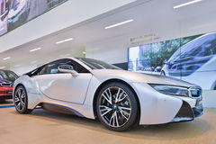 BMW i8 displayed in a showrrom, Shanghai, China Royalty Free Stock Images
