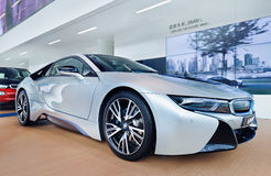 BMW i8 displayed in a showrrom, Shanghai, China Royalty Free Stock Photography