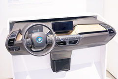 The BMW i3 electric car instrument panel Royalty Free Stock Photos