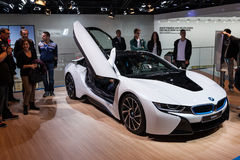 BMW i8 electric sports car at the IAA 2015 Stock Images