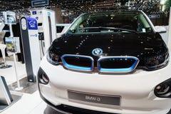BMW i3 elektrisch, Autoausstellung Geneve 2015 lizenzfreie stockbilder