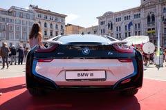 BMW i8, elektryczny samochód Obraz Royalty Free